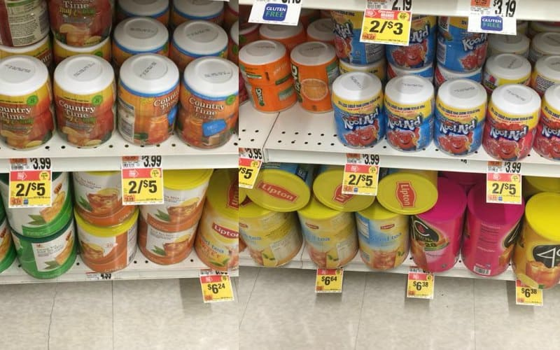 Country Time or Kool-Aid Canisters Only $1.15 Each!