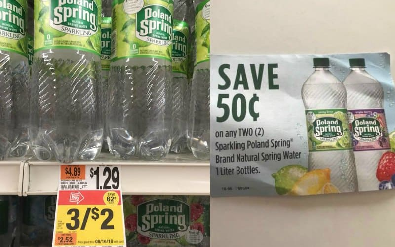 Deal Extended! Poland Spring Sparkling Water Only $.17!