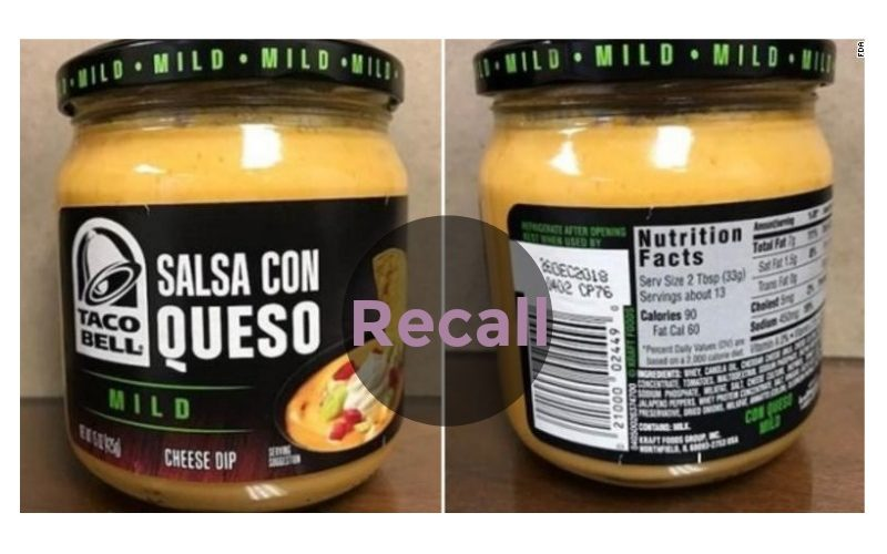 Taco Bell Cheese Dip Recall!
