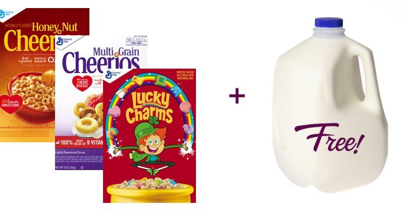 Cereal + FREE Milk Deal!