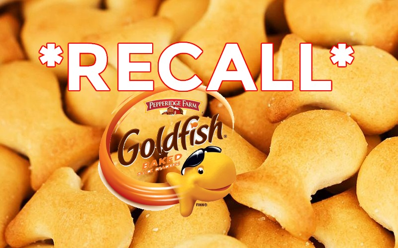 Goldfish RECALLED for Salmonella Concerns!!