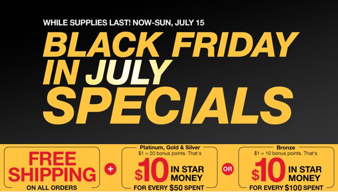 Black Friday in July at Macy's!  + 25% off and FREE Shipping!!
