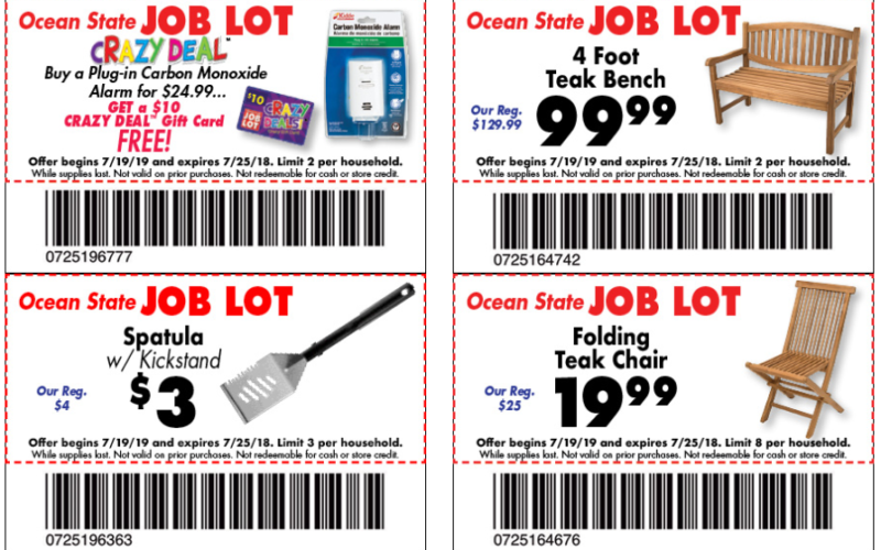 NEW Job Lot Coupons for this week! (7/19-25)