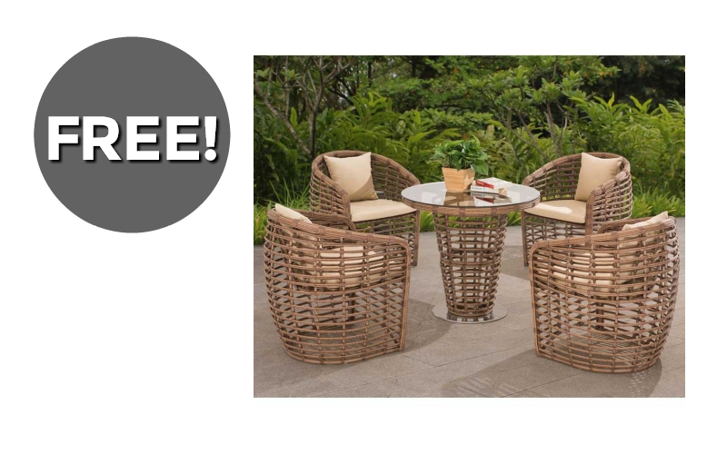 #FREE 5pc Patio Set~ 3 Days Only!!