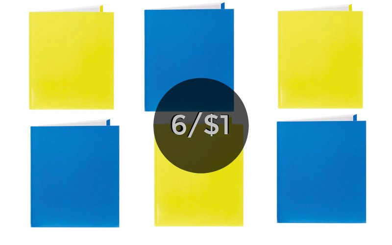 Great Price! 2 Pocket Folders with Prongs Only $.17!