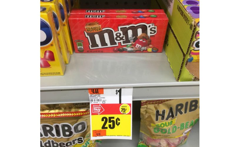 Peanut Butter M&M's Boxed Candy Only $.25!