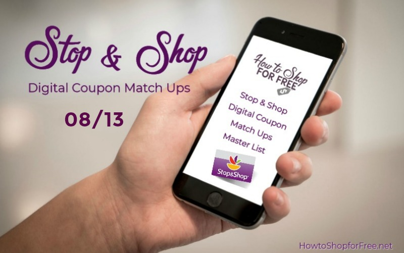**7** NEW Load to Card Offers with Match Ups at Stop & Shop 08/13!!