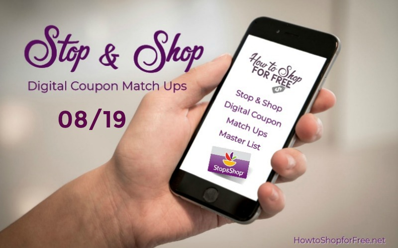 **34** NEW Load to Card Offers with Match Ups at Stop & Shop 08/19!!