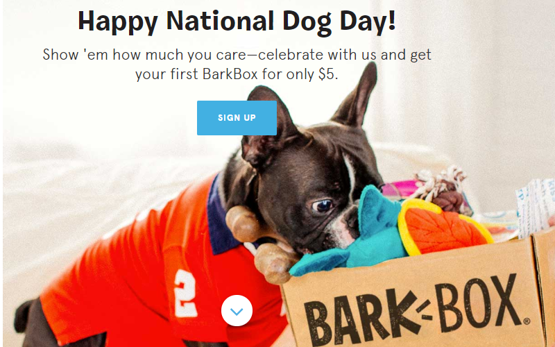$5 Bark Box for Your Furbaby!! (Limited Time)