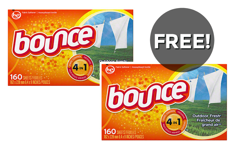 F R E E~ 160ct. Bounce Dryer Sheets