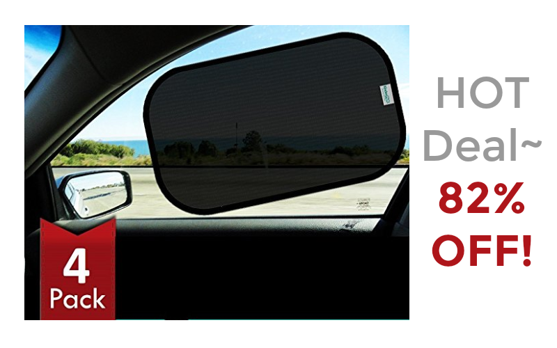 82% OFF Car Window Shades (4pk)