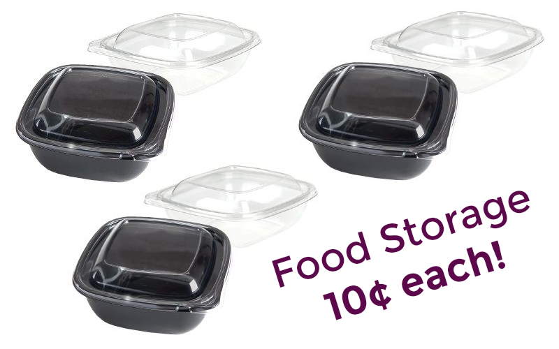 Food Storage Containers 10¢ each~ 3 days only!