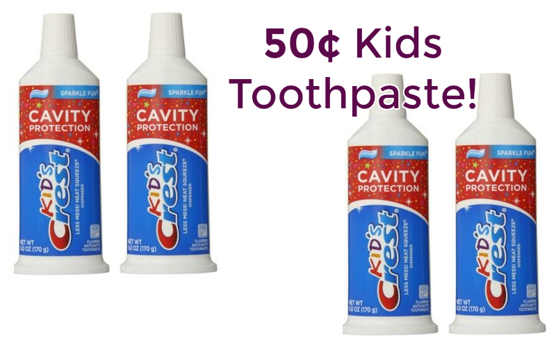 50¢ Crest Kids Toothpaste! Cheap & Easy Stockup!