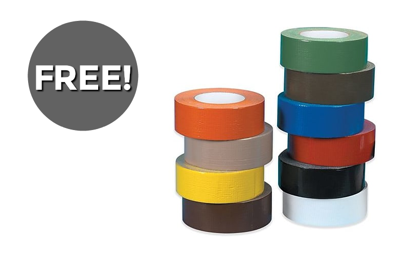 Duct Tape for FREE… Lots of fun colors!