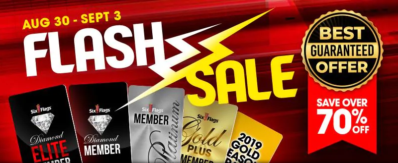 Six Flags FLASH SALE on 2019 Passes!!