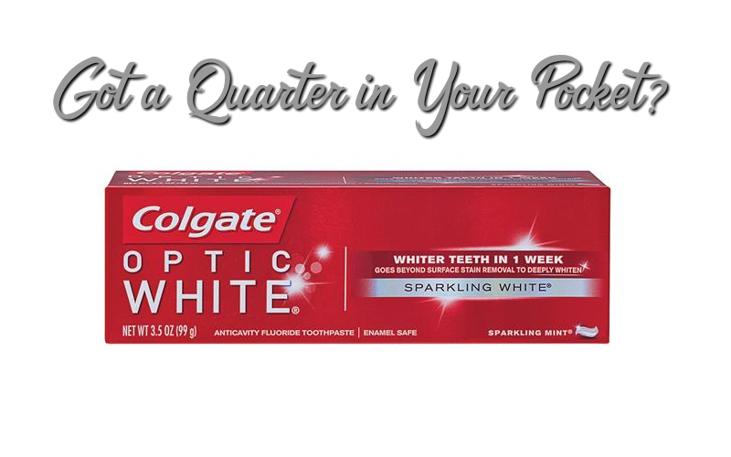 25¢ Colgate Optic White Toothpaste!!