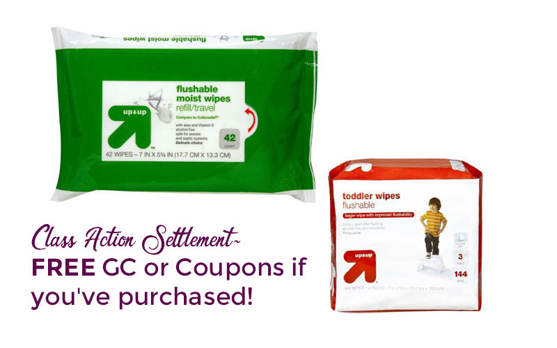ICYMI~ FREE GC/Coupons if you bought Up & Up Wipes!