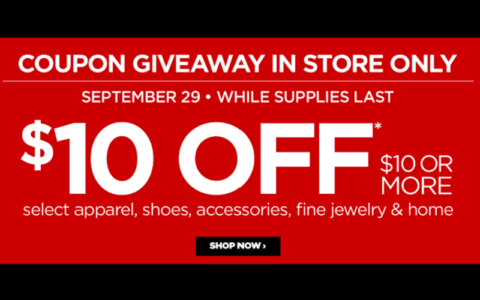 10 Off 10 Jcpenney Coupon How To Shop For Free With