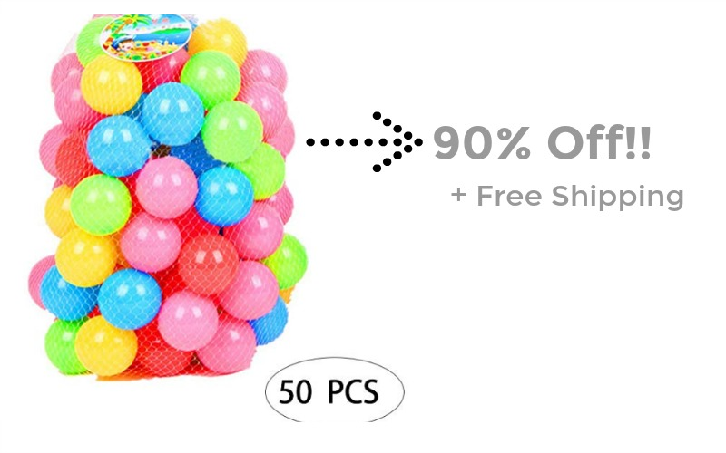 Hurry! 90% Off Soft Kids Play Pits Balls + FREE Shipping!