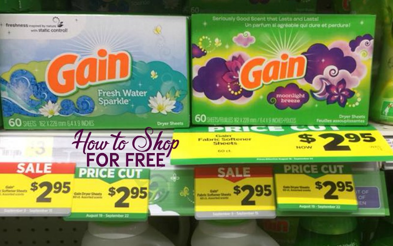 Gain Fabric Softener Sheets Only $1.28!
