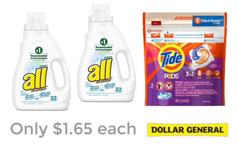 Stock Up Prices Laundry Products at Dollar General!
