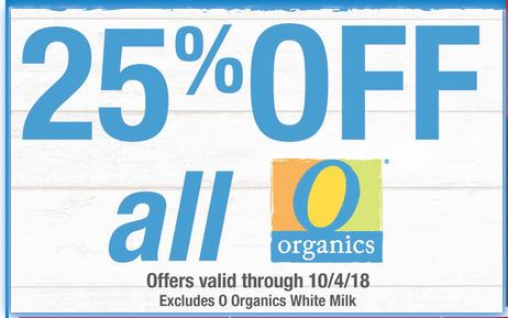 Save on Organic Products at Shaw's ~ Through 10/04!!