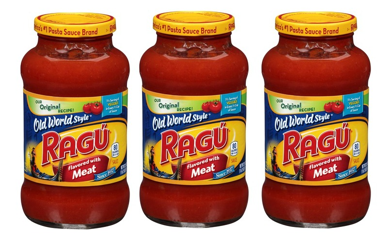 Ragu Pasta Sauce for just over a dollar
