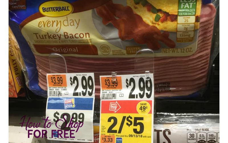 Great Price for Butterball Turkey Bacon!