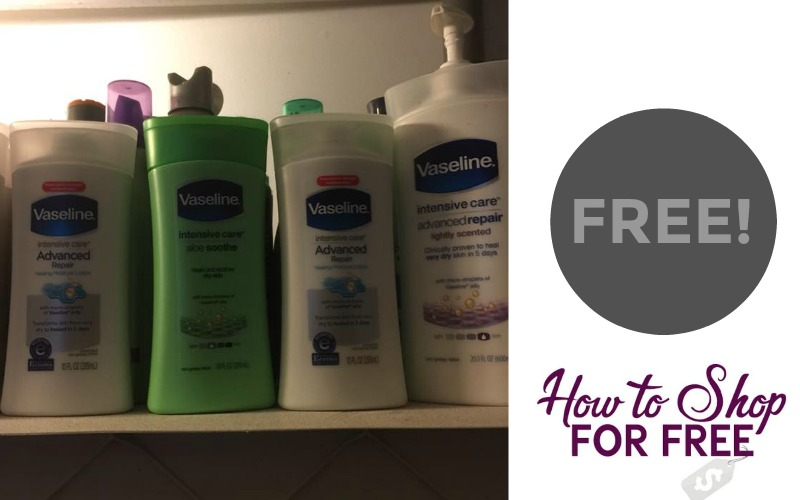 F R E E Vaseline Advanced Repair Lotion!