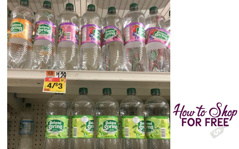 Poland Spring Sparkling Water 1 Liter Bottles Only $.50!