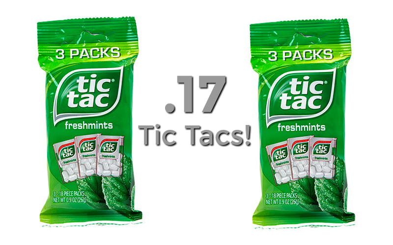 Tic Tacs ONLY 17¢ per pack!