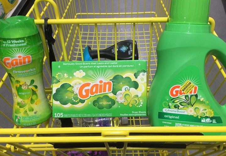 Gain Fabric Softener Sheets, Detergent, or Fireworks Only $1.95!