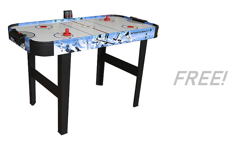 F R E E Sportcraft Air Hockey Table!