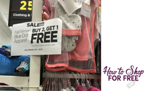 Buy 2 Get 1 FREE Fall Winter Apparel At Dollar General