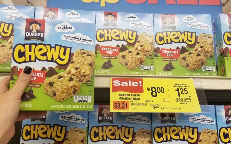 Stock Up Price on Quaker Chewy Granola Bars at Shaw's ~ Through Thursday!