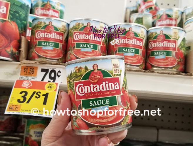 MONEY MAKER on Contadina Tomato Sauce!