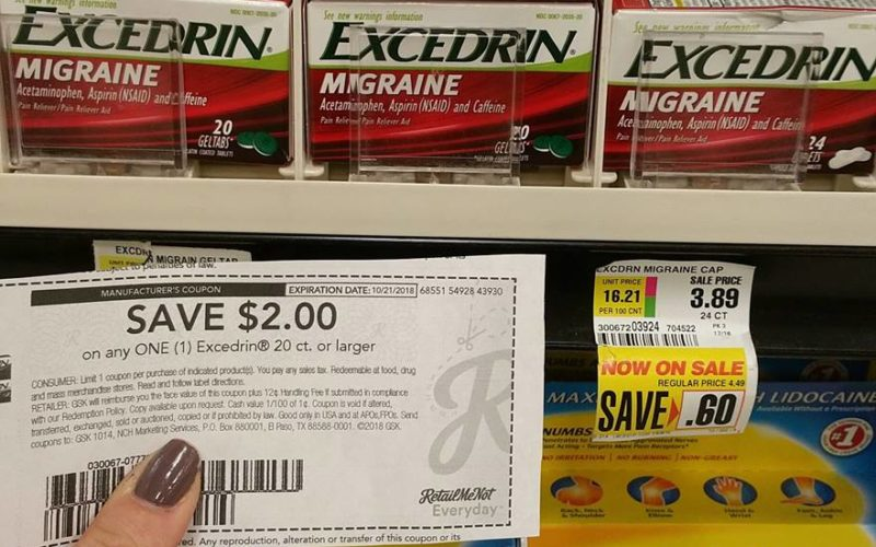MONEY maker on Excedrin!! Now that's a relief!