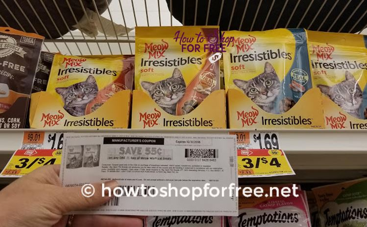 Meow Mix Cat Treats ONLY $.23 at Stop & Shop!