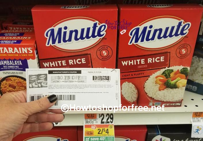 HUGE MONEY MAKER on Minute Rice at Stop & Shop!
