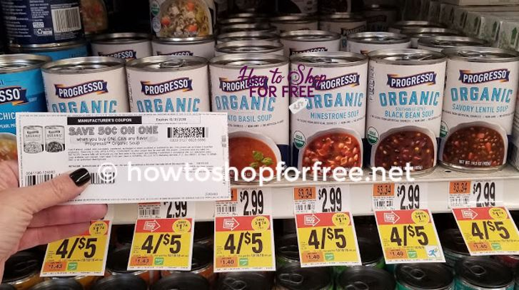 Better Than FREE Progresso Organic Soup!