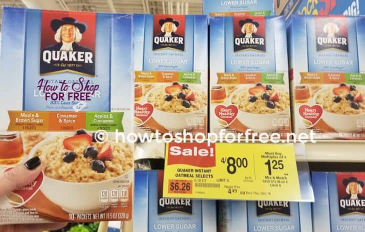 Stock Up on Quaker Oatmeal at Shaw's!
