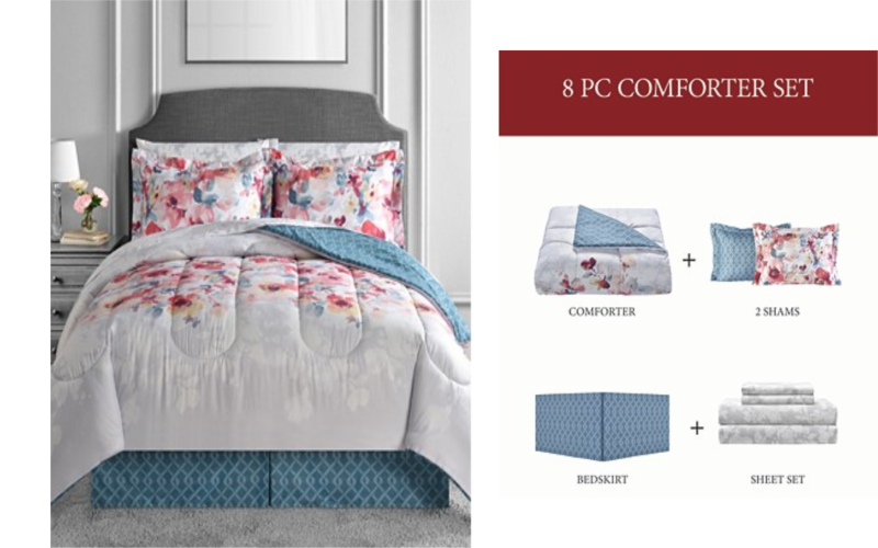 Macy's 8 Piece Comforter Set Only $34.99 Any Size!