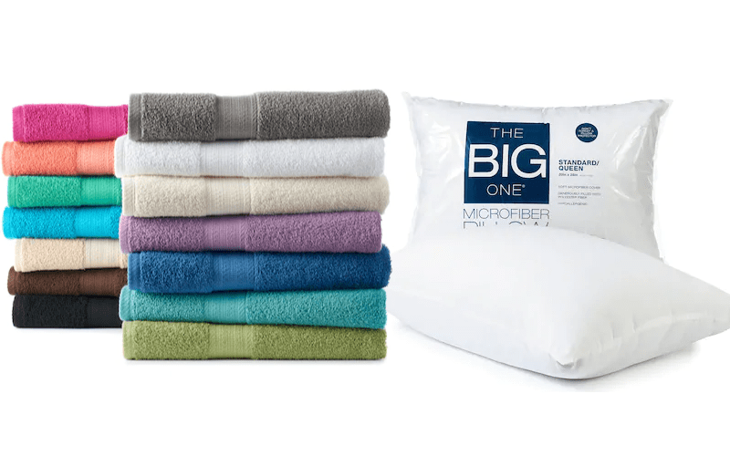 The Big One Bath Towels or Pillows Only $1.27 Each Shipped!