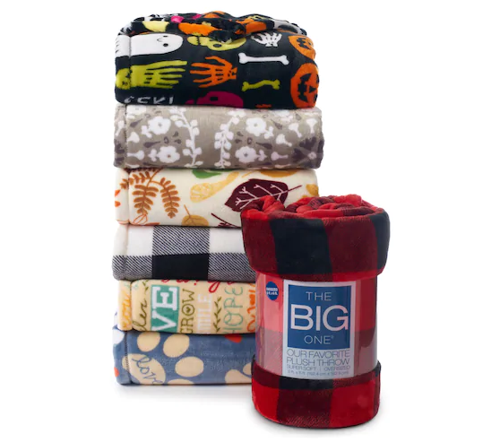 The Big One Supersoft Plush Throw Only $7 (Reg. $39.99)