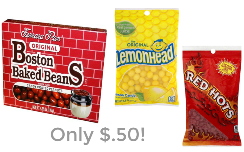 Lemonheads, Red Hots, Boston Baked Beans & More for Just $.50!