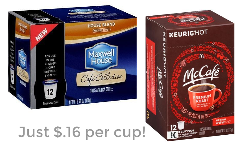 Maxwell House or McCafe K-Cups Just $.16 per Cup!