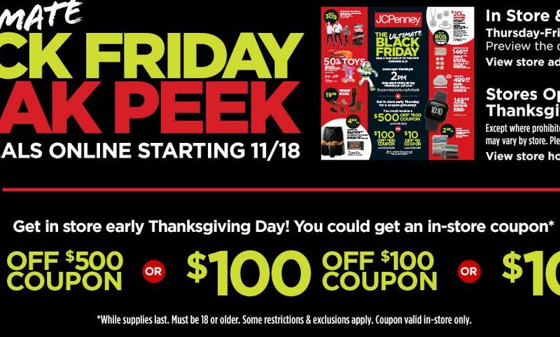 Get up to $500 FREE at JC Penney Thanksgiving Day ~ In Store ONLY!