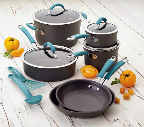 Black Friday Price! Rachael Ray 12 Piece Cookware Set Only $50 Shipped!