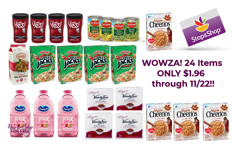 WOWZA! 24 Items for ONLY $1.96 at Stop & Shop ~ through 11/22!!