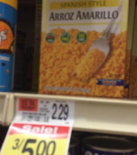 Goya Rice 66 Cents at Shaw's